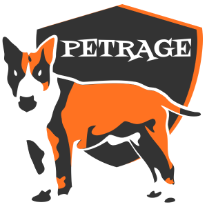 petrage orange staffy logo